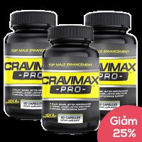 Giảm giá 25% giá trị sản phẩm khi mua combo 3 lọ Cravimax Pro