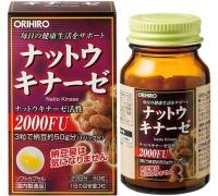 Viên Nattokinase 2000FU Orihiro Nhật Bản bồi bổ sức khỏe