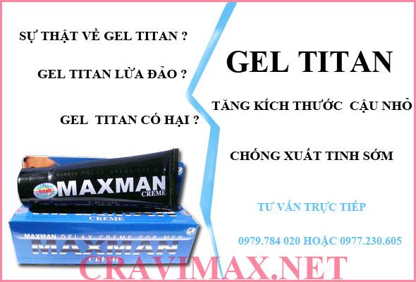 xác nhận sự thật về gel titan lừa đảo